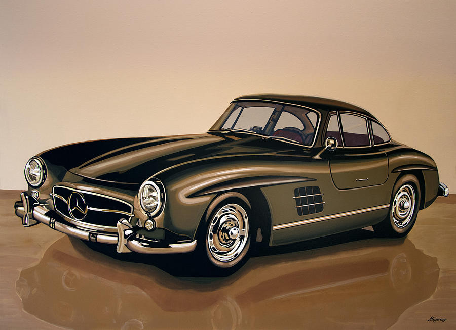Mercedes Benz Painting - Mercedes Benz 300 SL 1954 Painting by Paul Meijering