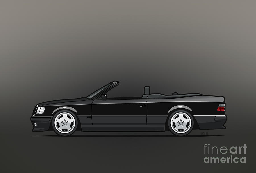 mercedes benz amg a124 w124 300e e class black cabrio. Black Bedroom Furniture Sets. Home Design Ideas