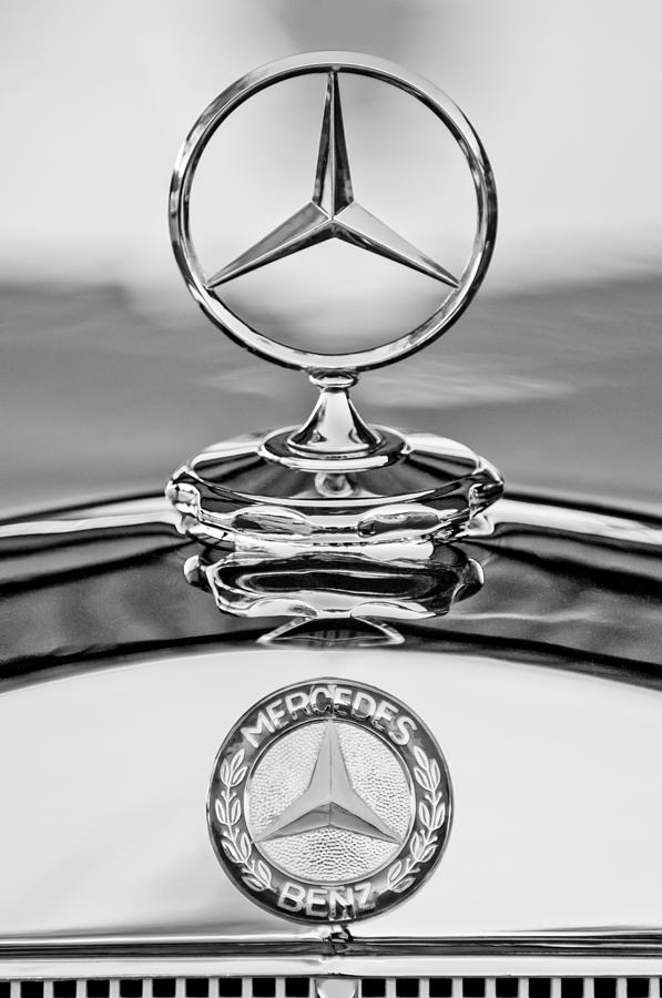 mercedes benz hood ornament 2 photograph by jill reger