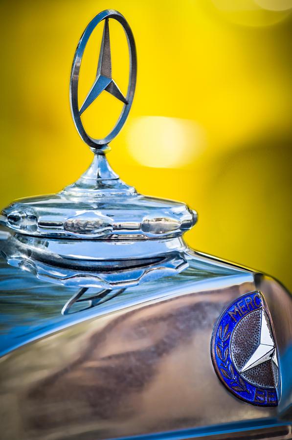 Car Photograph - Mercedes-benz Hood Ornament - Emblem -0961c by Jill Reger