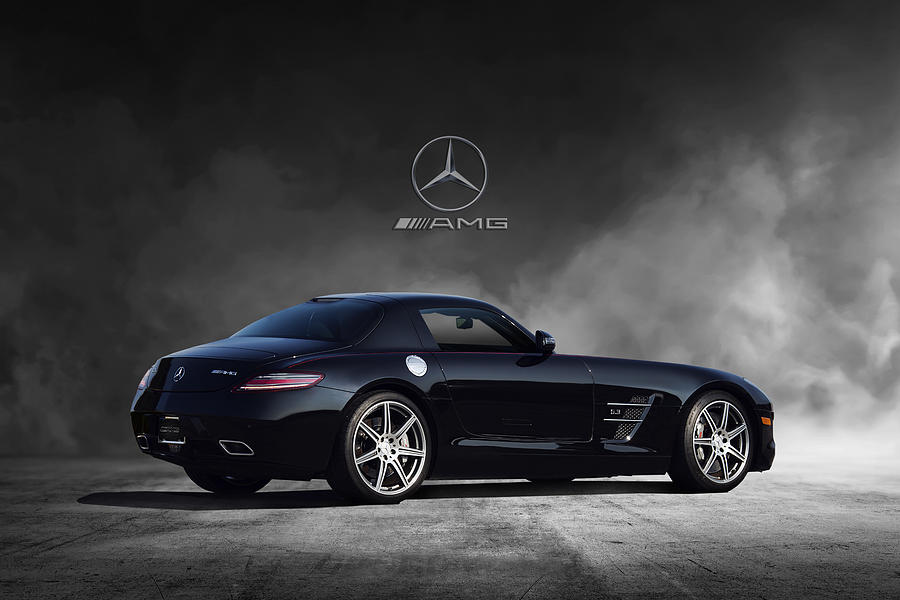 Mercedes Benz Digital Art - Mercedes Benz Sls Amg by Peter Chilelli