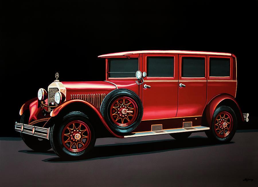 Landaulet Painting - Mercedes-benz Typ 300 Pullman Limousine 1926 Painting by Paul Meijering