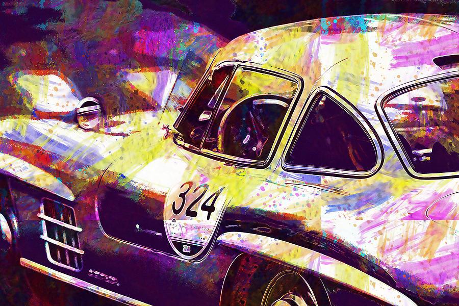 Mercedes Car by PixBreak Art
