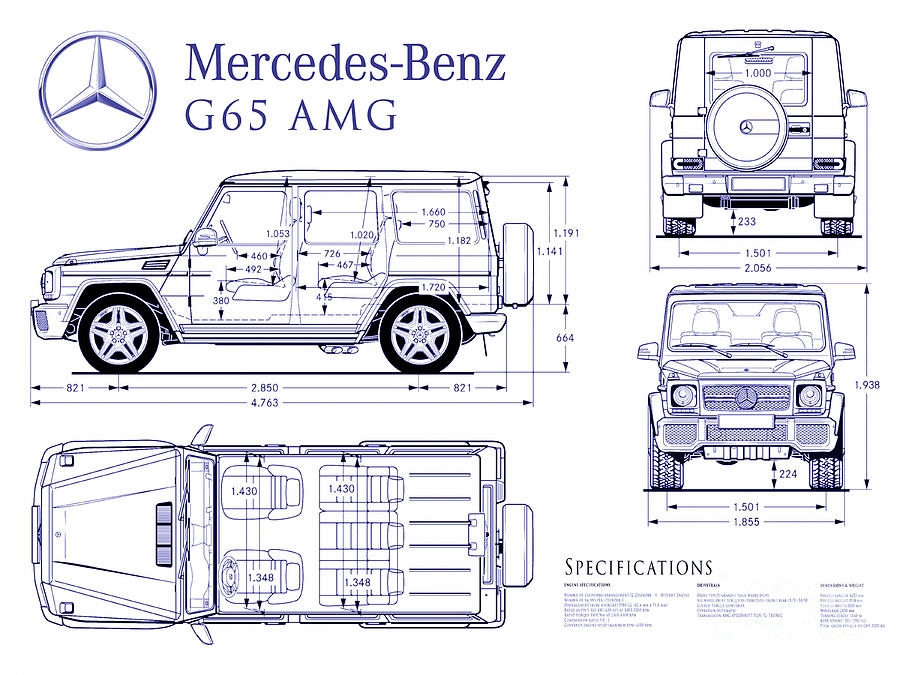 Mercedes g65 amg blueprint photograph by jon neidert mercedes photograph mercedes g65 amg blueprint by jon neidert malvernweather Image collections