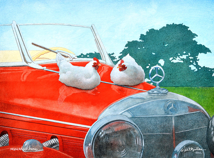 Will Bullas Painting - Mercedes Hens... by Will Bullas
