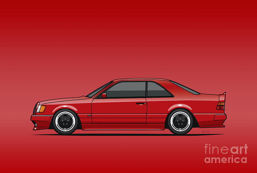 Mercedes W124 300e Red Amg Hammer Widebody Coupe Red by Monkey Crisis On  Mars