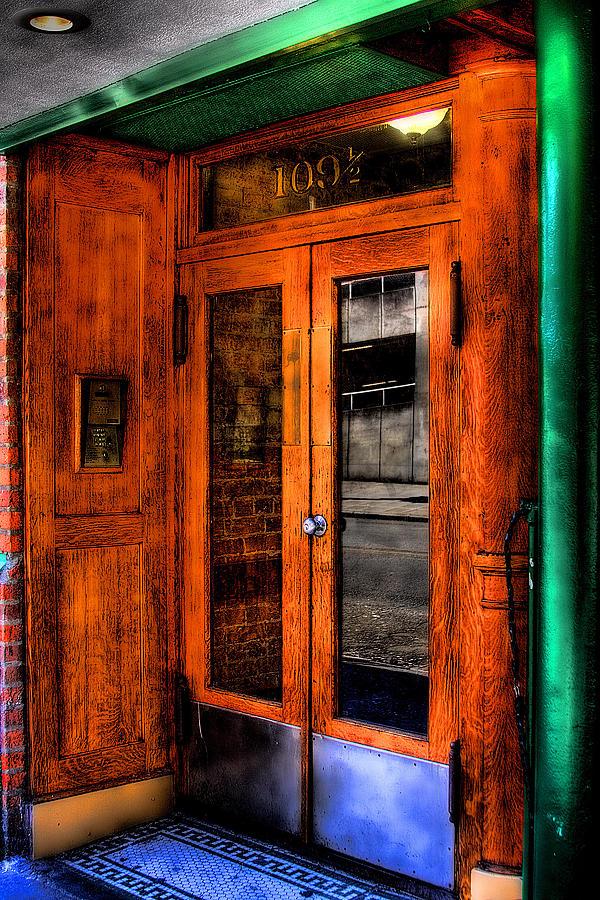 Doors Photograph - Merchants Cafe Doors by David Patterson