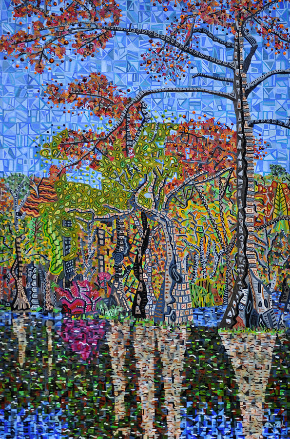 North Carolina Painting - Merchants Millpond State Park 1 by Micah Mullen
