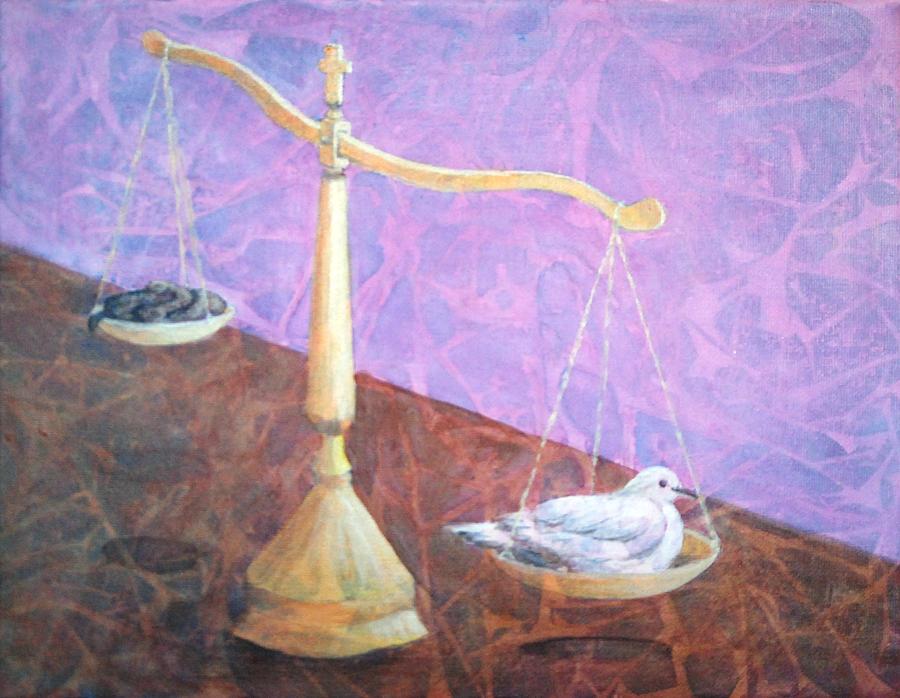 Mercy Painting - Merciful by Arlissa Vaughn