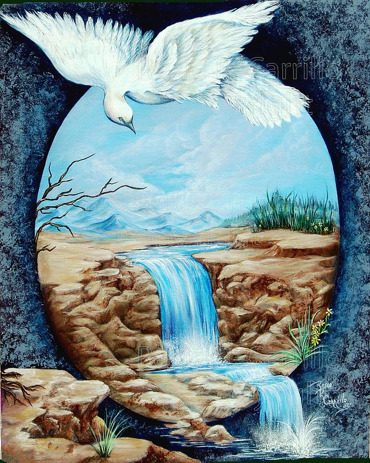 Dove Print - Merciful Flight by Rosie R Carrillo