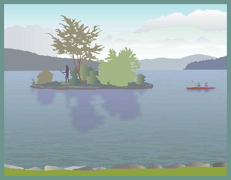 Lake Painting - Meredith Bay by Marian Federspiel