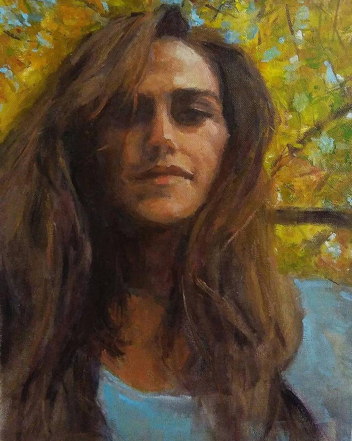 Autumn Painting - Meredith In Autumn by Brian Kardell