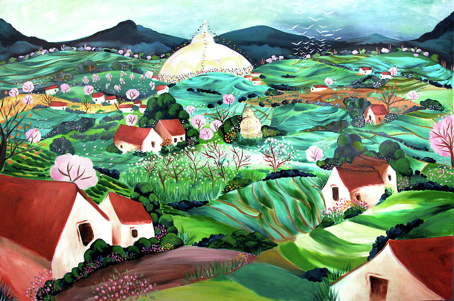 Kathmandu Valley Painting - Merediths Valley by Tatjana Krizmanic