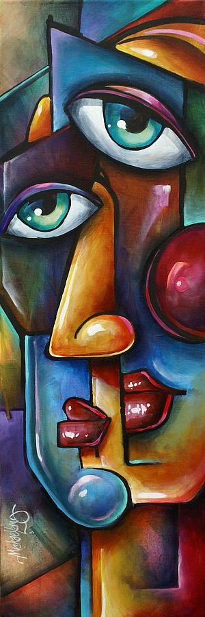 Portrait Painting - Merge by Michael Lang