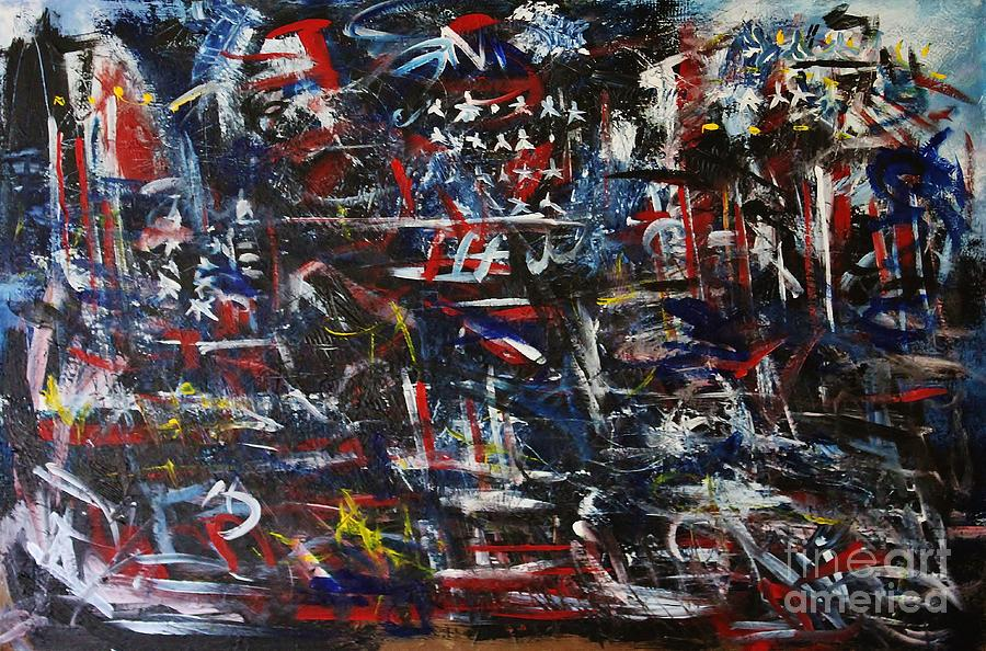 Merica Painting - Merica by Chaline Ouellet