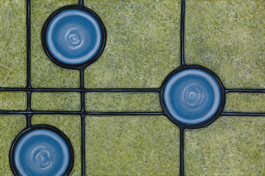 Circles Painting - Meridian by Don Mullins
