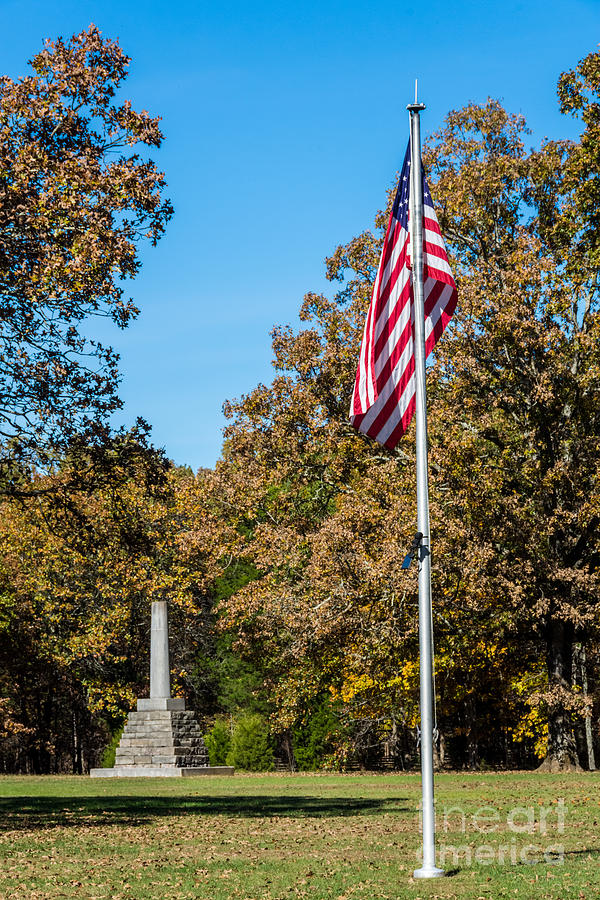 Meriwether Lewis Monument And American Flag - Natchez ...