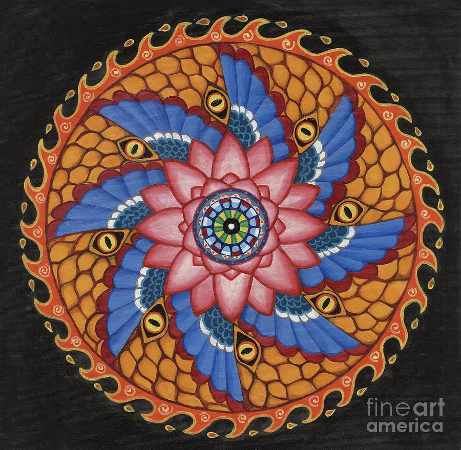 Mandala Painting - Merkaba by Galina Bachmanova