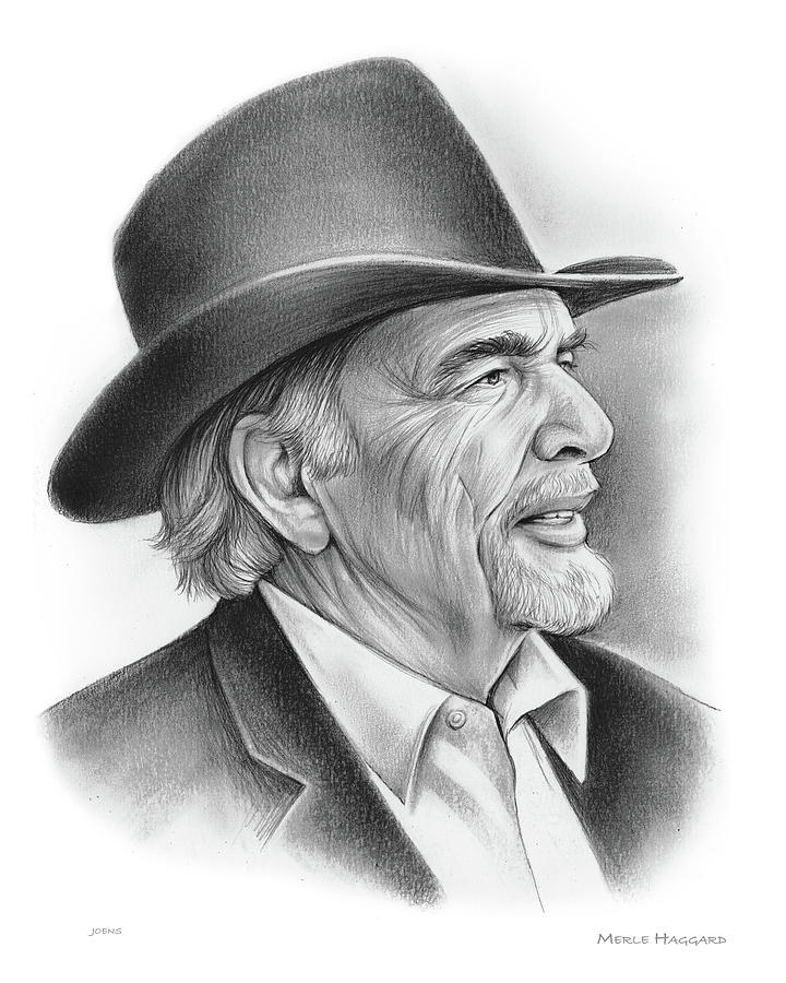 Merle Haggard Drawing - Merle Haggard by Greg Joens
