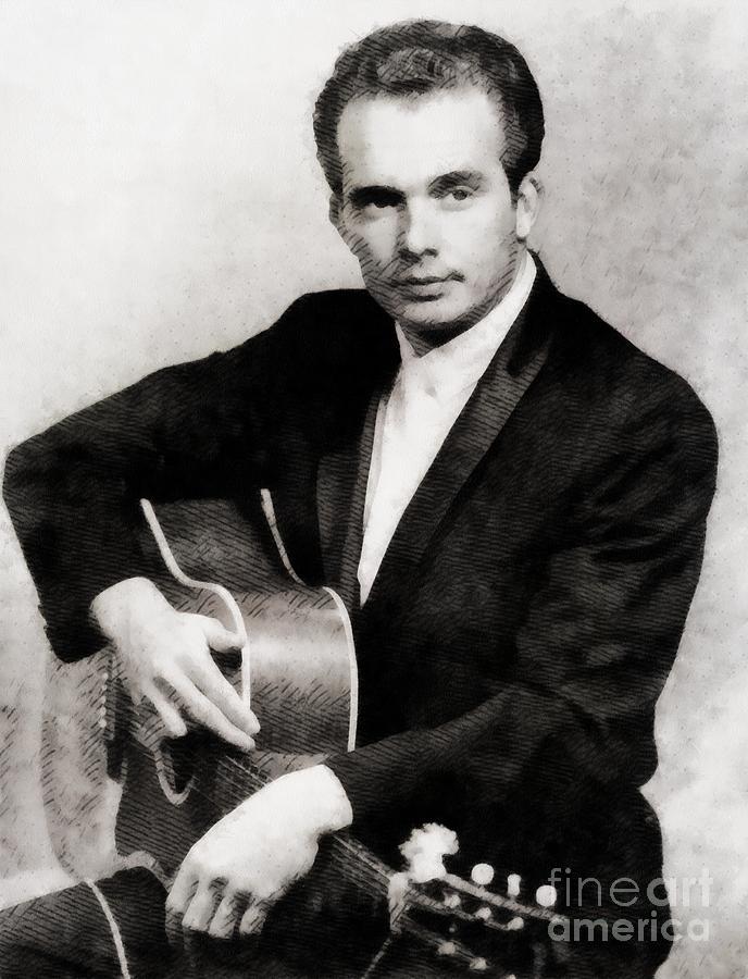 Merle Haggard, Music Legend By John Springfield Painting