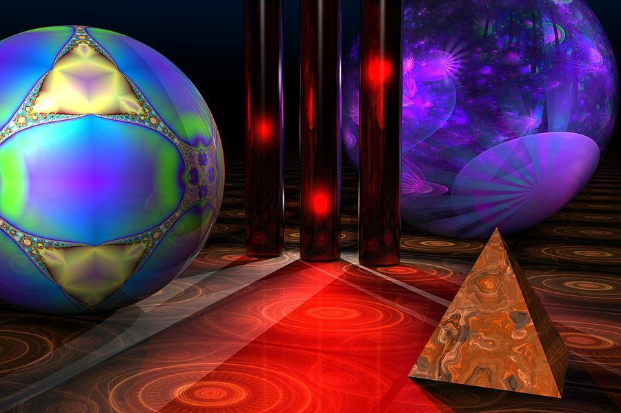 3d Digital Art - Merlins Playground by Lyle Hatch