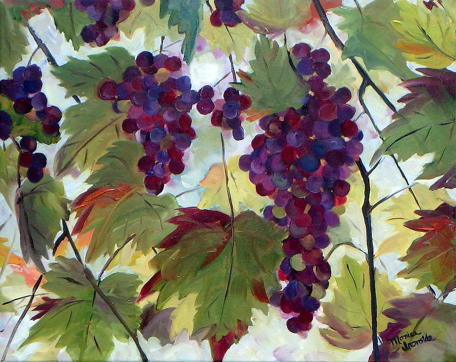 Landscape Painting - Merlot by Monica Ironside