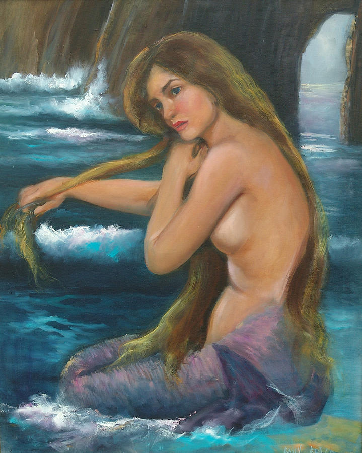 Mermaid Painting - Merma by Sally Seago
