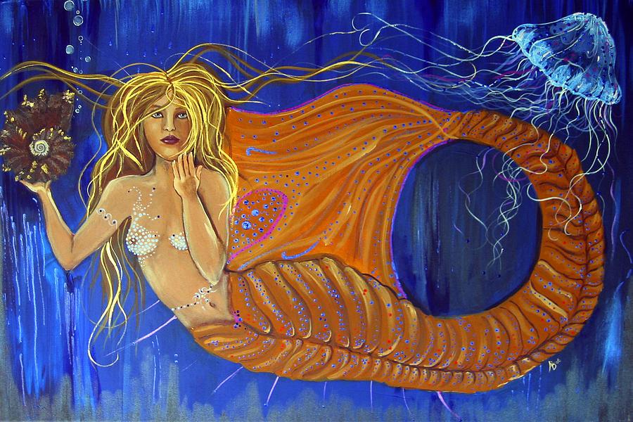 Mermaid Painting - Mermaid by Ana M  Berry