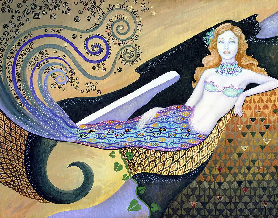Mermaid Painting - Mermaid by B K Lusk