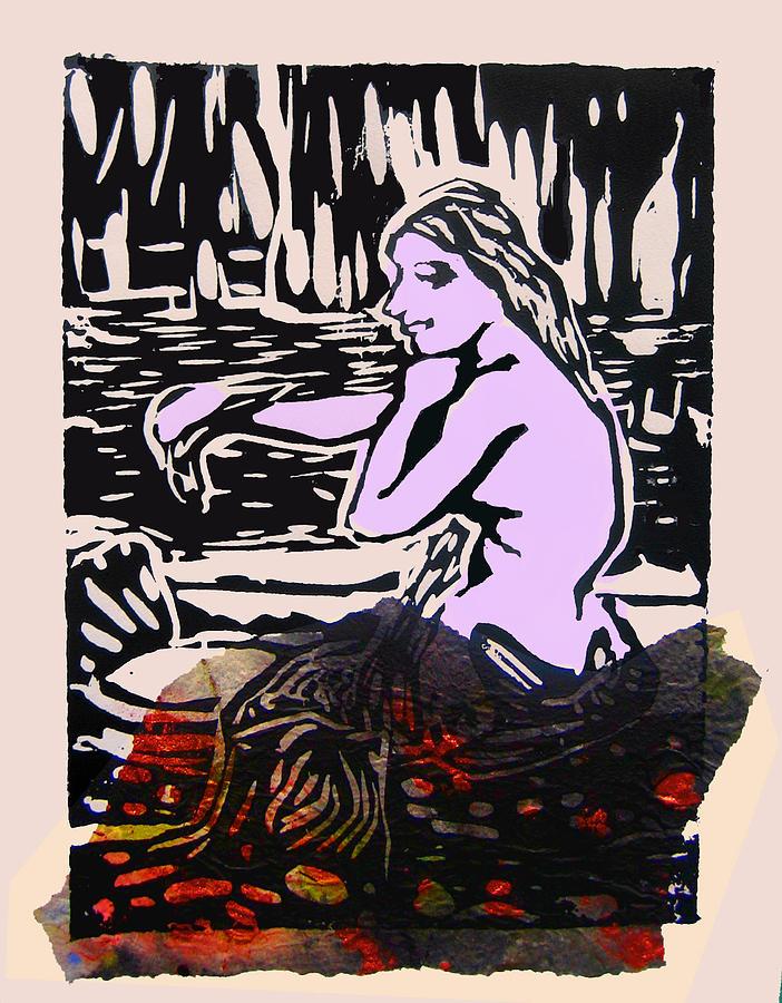 Mermaid Digital Art - Mermaid Combing Her Hair  No V by Adam Kissel