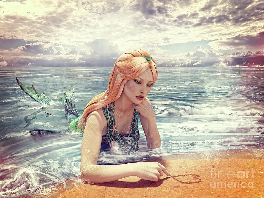 Mermaid Daydreamer by Methune Hively
