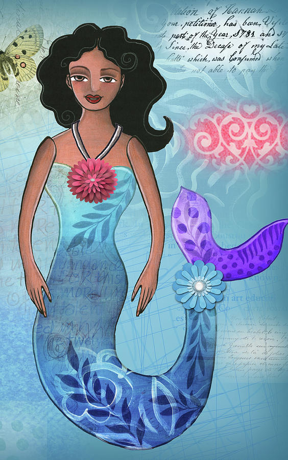 Mermaid Mixed Media - Mermaid Dream 1 by Elaine Jackson