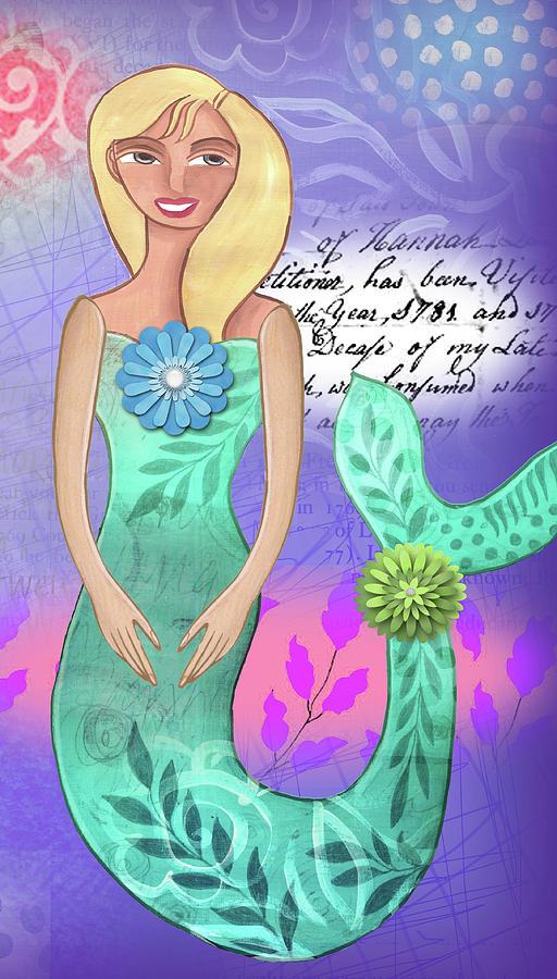 Mermaid Mixed Media - Mermaid Dream 2 by Elaine Jackson