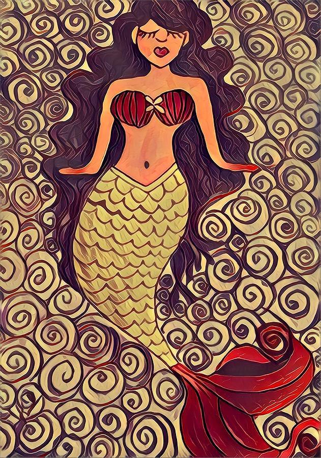 Mermaid Dreams Drawing by K Daniel