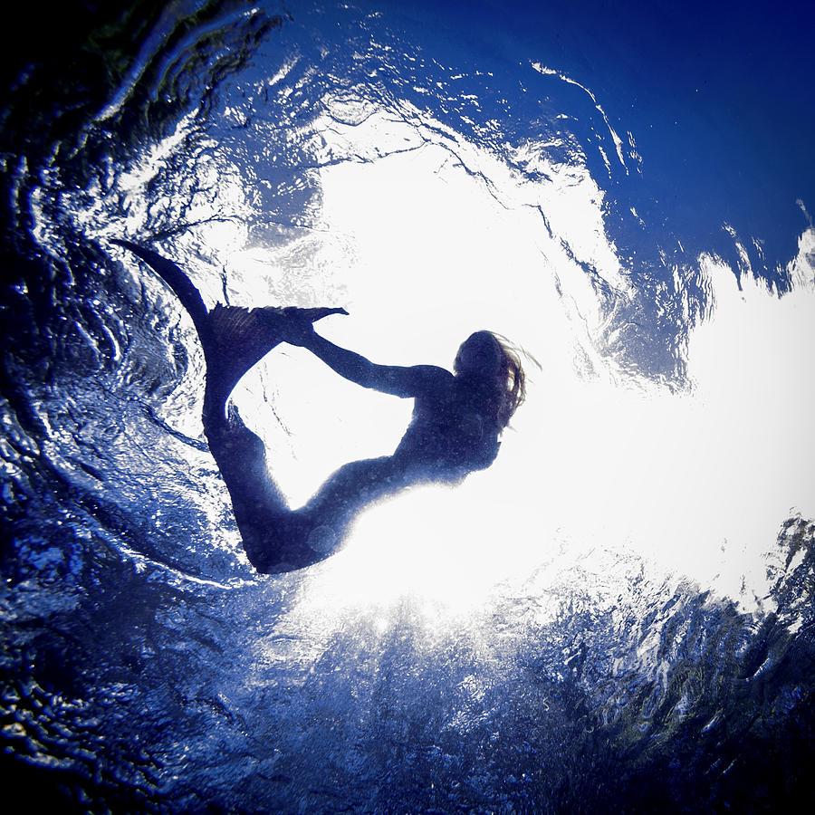 Mermaid Photograph - Mermaid From Below by Steve Williams
