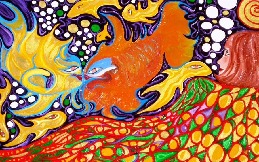 Mermaid Painting - Mermaid Gold by Alfredo Dane Llana