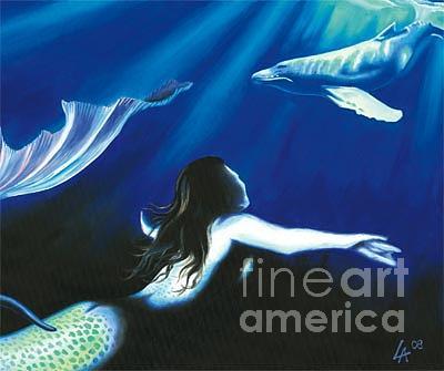 Faery Painting - Mermaid In Rapture by Linda Laforge