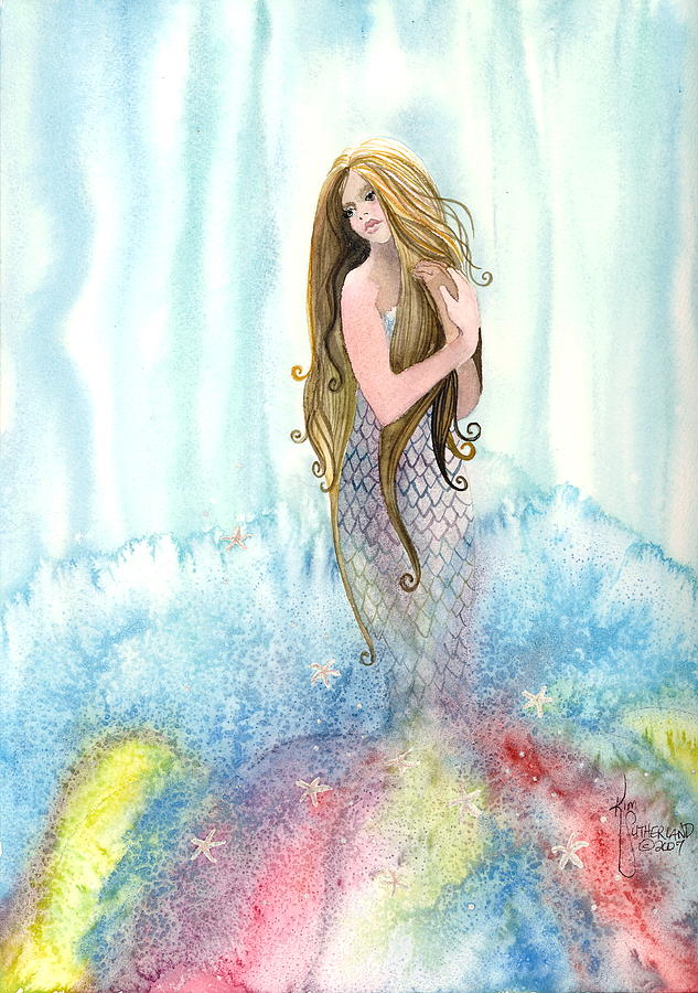 Fantasy Painting - Mermaid In The Mist by Kim Whitton