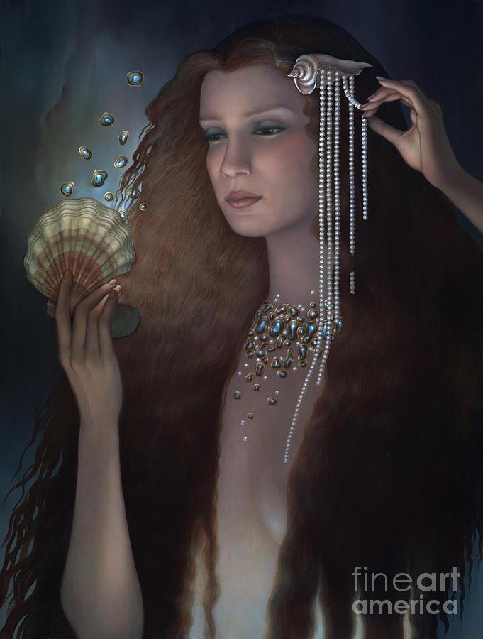 Mermaid Painting - Mermaid by Jane Whiting Chrzanoska