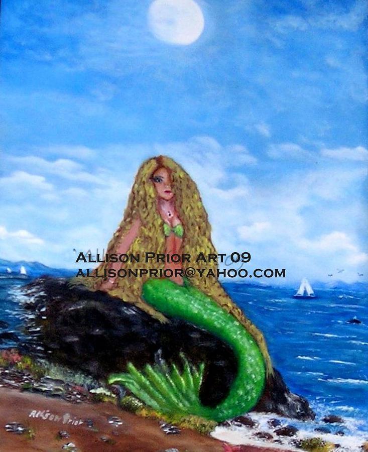 Mermaids Painting - Mermaid Karen by Allison Prior