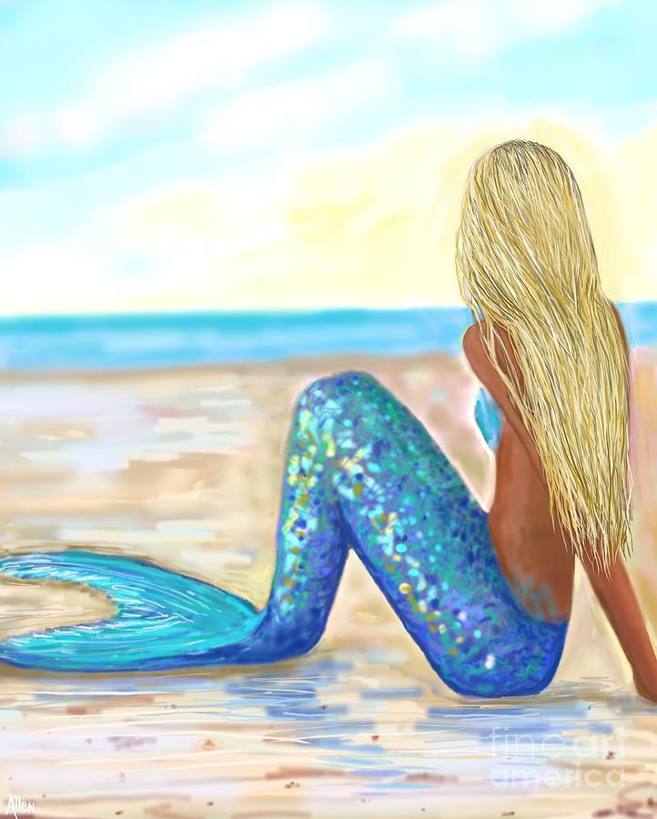 Mermaid Hand Painted