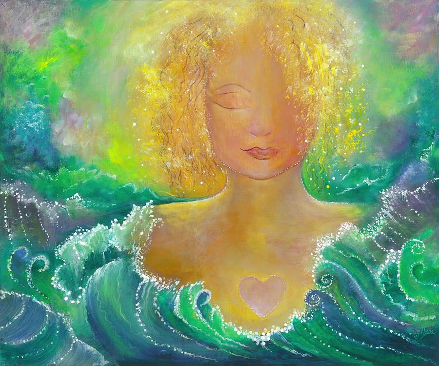 Sea Painting - Mermaid Meditation by Lily Nava-Nicholson