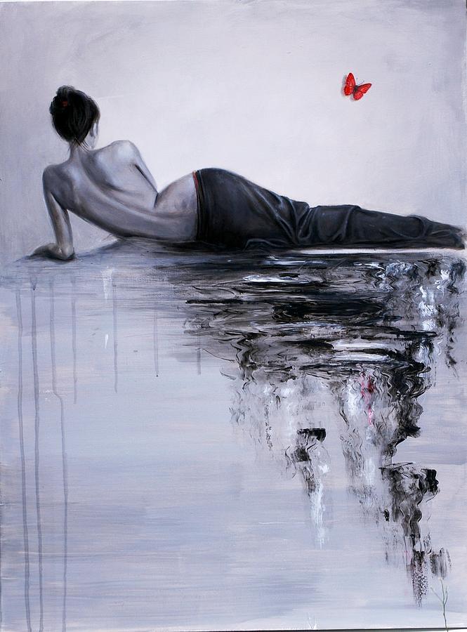 Mermaid Painting - Mermaid by Nataliya Bagatskaya