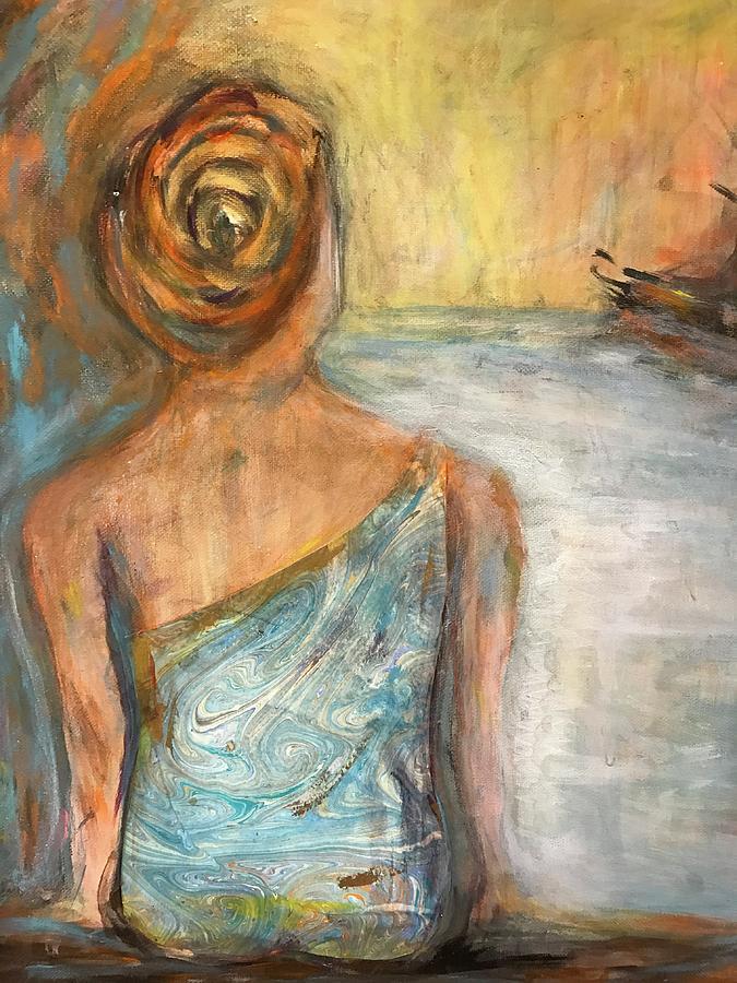 Mermaid Painting - Mermaid Visions by Denice Palanuk Wilson