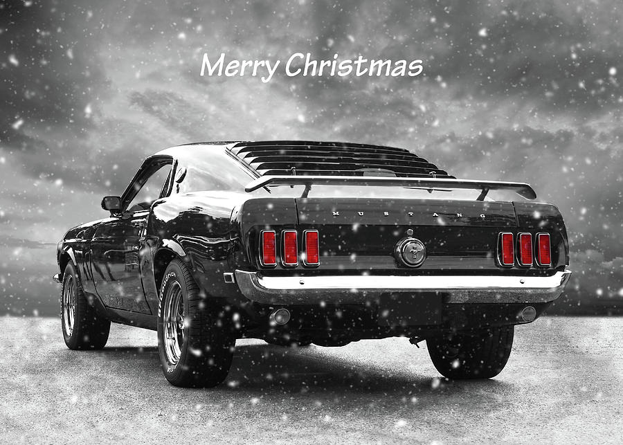 Merry Christmas 69 Mustang Photograph By Gill Billington