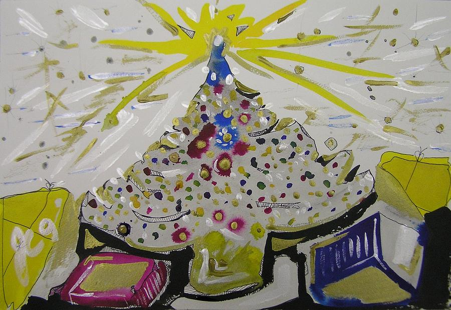 Christmas Painting - Merry Christmas by Jimmy King