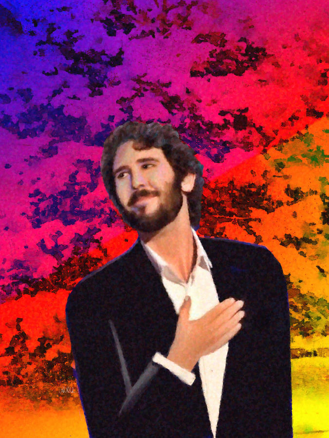 Merry Christmas Josh Groban Drawing by Angela A Stanton