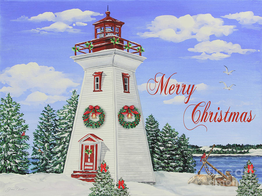 christmas lighthouse pictures