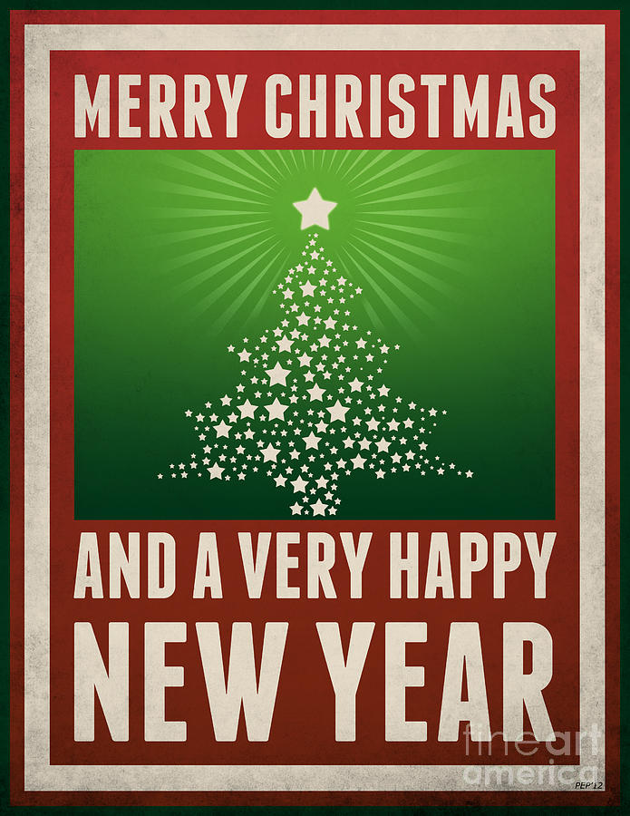 Graphic Design Digital Art - Merry Christmas by Phil Perkins