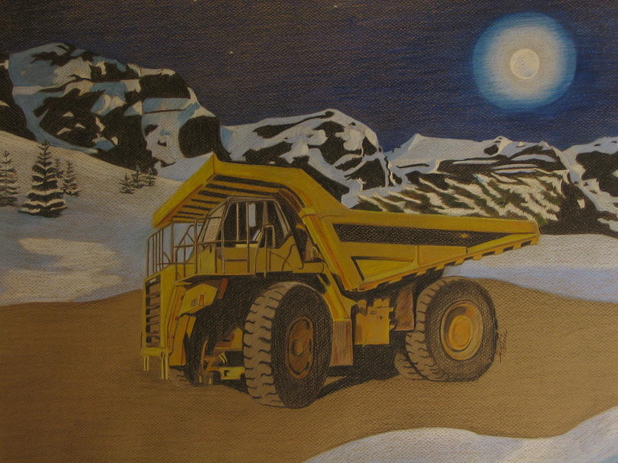 Truck Drawing - Merry Christmas by Suzan Tisdale